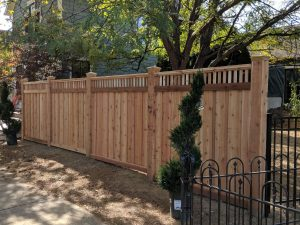decorative wood privacy fence
