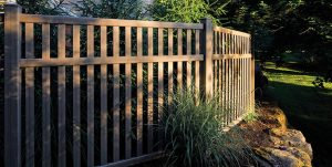 rustic tall fence installation