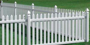 durable vinyl picket fencing